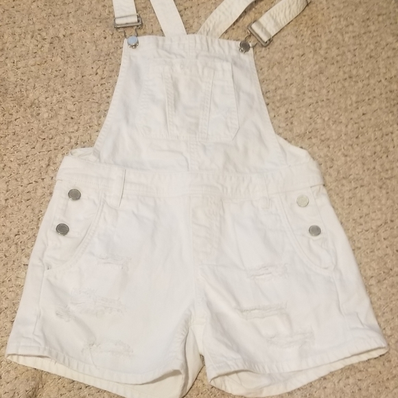 BlankNYC White Jeans short overall